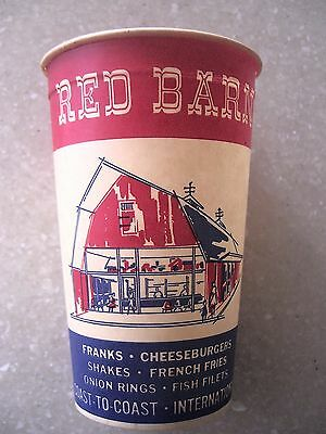 Vintage 1960's Red Barn Restaurant Paper Cup