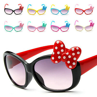 8 Color Kids Bow Girls Cartoon Baby New Goggle Boys Sunglasses Anti-UV Glasses