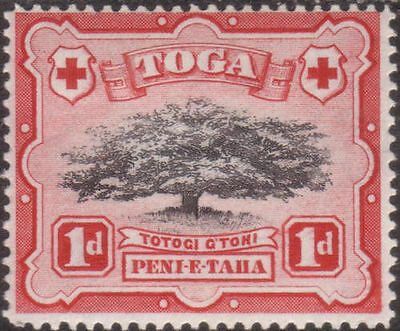 Tonga 1942 SG75a 1d Ovava Tree LOPPED BRANCH MLH