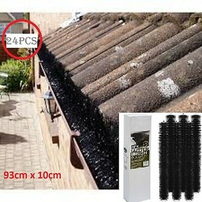 24PCS 100mm X 22M Gutter Brush Guard Filter Leaf Twigs Heavy Duty  home Graden