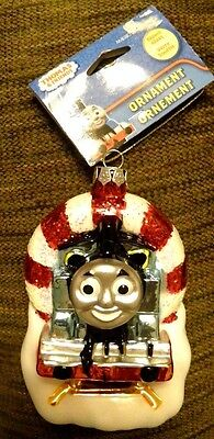"THOMAS the Tank Engine & Friends Holiday Ornament Tree 5"" Blown Glass-NWT"