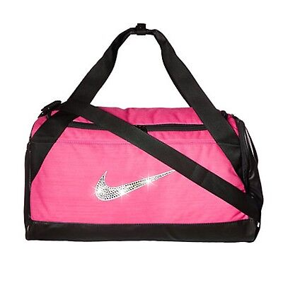170f2dc0d8 Bling Nike Brasilia Duffel Gym Bag with Swarovski Crystal Bedazzled Swoosh  PINK