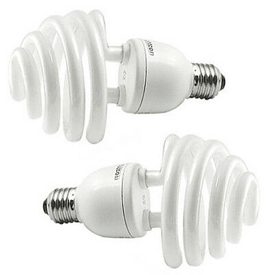 2x Daylight 35W (175W) 5500K E27 Umbrella Photo Studio Photography Bulb Lamp