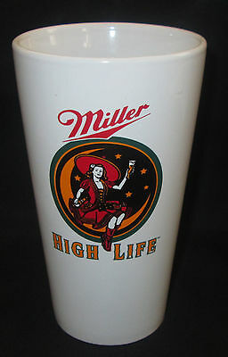 "Vintage Ceramic Miller High Life Beer Lady Girl On Moon Tumbler ""glass"""