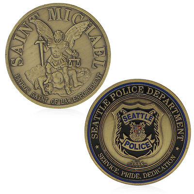 Saint Michael Seattle Police Department Commemorative Coin Challenge Collection