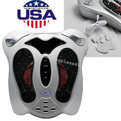 Circulation Blood Booster Electromagnetic Foot Massager Infrared +8 pads Healthy