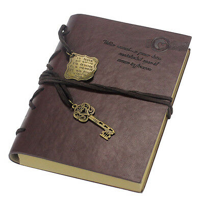 Vintage Magic Key String Retro Leather Travel Diary Notebook Notepad