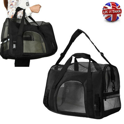 Pet Dog Cat Portable Travel Carry Carrier Tote Cage Bag Crates Box Holder Black