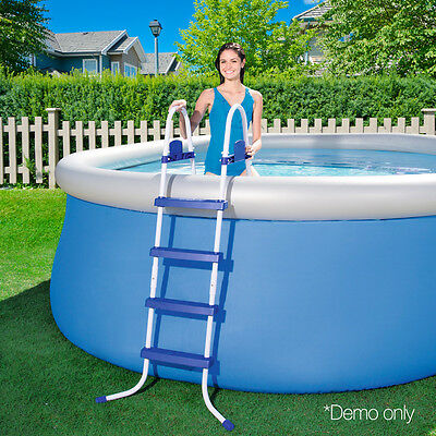 Bestway Ladder Above Ground Swimming Pool 122cm 48 inch Deep Removable Steps