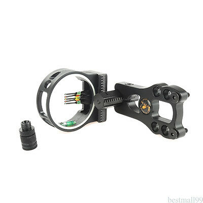 HOT Archery hunting bow sight for compound bow 5 pins bow sight 0.029'' Fiber CS