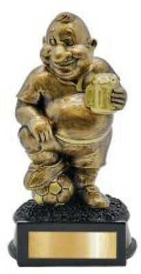Soccer Trophy Comic Novelty Award Fathers Day 170mm Engraved FREE