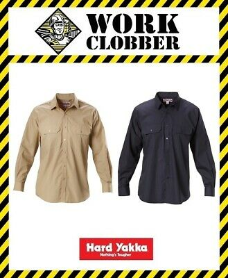 Hard Yakka Permanent Press Poly Cotton Shirt Long Sleeve Y07590 NEW WITH TAGS!