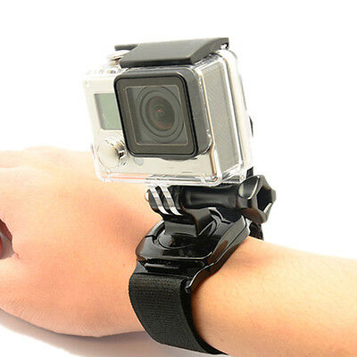 360 Degree Rotation Palm Hand Strap Band Holder with Mount for Go Pro Hero4 3 2