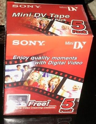 Sony mini DV Tape 5DVM60R3, 5 +1 Cleaning pack, Shrink Wrapped  5DVM60R3/CLN