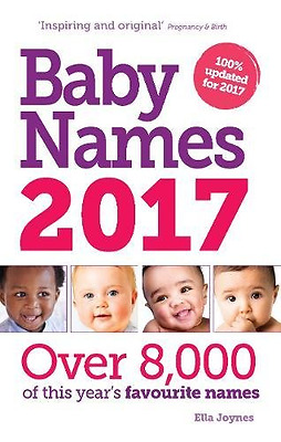Baby Names 2017 New Baby Names Book  Paper Back Siobhan Thomas
