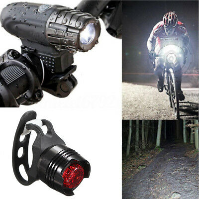 USB Rechargeable LED Bicycle Bright Bike Front 1 Headlight+ 2 Rear Tail Lights