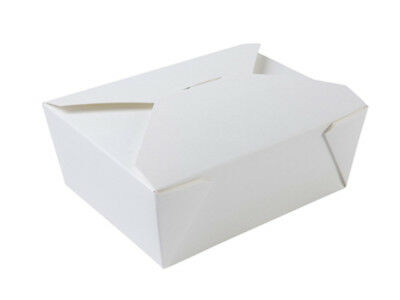 250 Karton Boxen 1150 ml weiß Menübox Nudelbox Food to go Karton (BIO-01650)