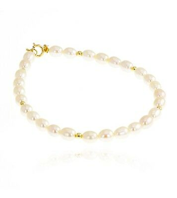 Bracelet perles d'eau douce 4,5-5 mm or jaune 375/00