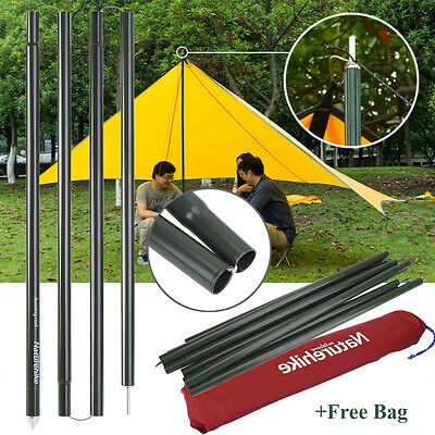 2xNaturehike Universal Canopy Porch Tent Pole Support For Tarp Tent Cover Awning