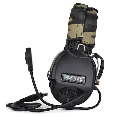 Tactical Headset Headphone Noise Reduction Headset for Airsoft Military PTT
