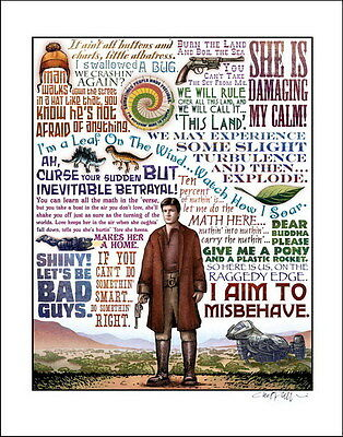 """001 Firefly - Serenity Fihgt Space USA Classic TV 14""""x17"""" Poster"""