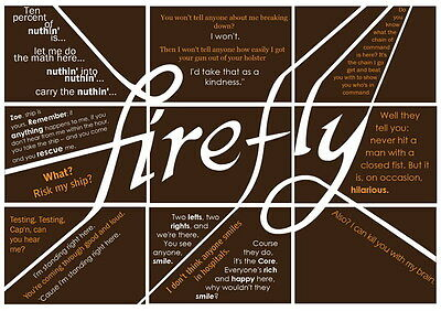 "014 Firefly - Serenity Fihgt Space USA Classic TV 19""x14"" Poster"