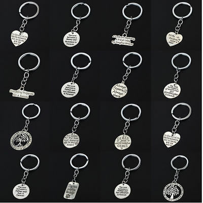 Family Key Chain Keyring Keychain Charm Jewelry Mom Friend Sister Dad Xmas Gift