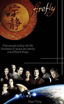 """002 Firefly - Serenity Fihgt Space USA Classic TV 24""""x38"""" Poster"""
