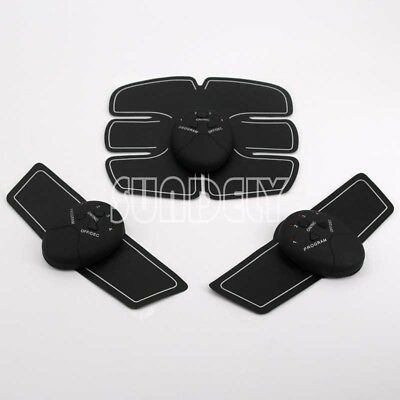 EMS Muscle Training Body Shape Fit Set ABS Six Pad Massage Sticker Controlle New