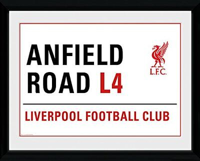 Liverpool Football Club Anfield Street Sign Framed Print Wall Hanging Official