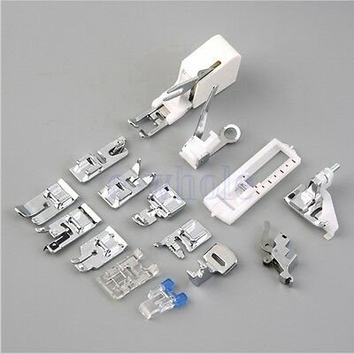 Universal 15pcs Presser Foot Set CY-015 for Low or High Shank Sewing Machines EW