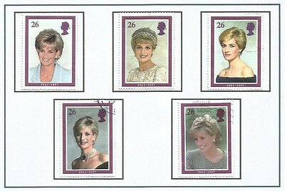 GB 1998 Diana, Princess of Wales Commemoration, Used Stamps SG Nos. 2012-5
