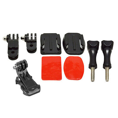 Front Side Helmet Mounting Kit with Curved & Flat mount for Gopro 1 2 3 4 5 6