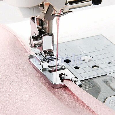 Fabric Edge Rolled Hem Presser Foot Attachment for Singer Brother Janome 4mm EW