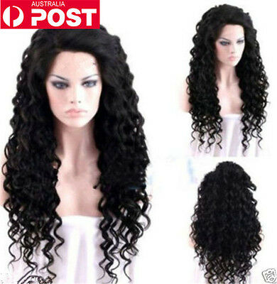 Long Curly Black Hot Fashion Women Synthetic Cosplay Party Heat-resistance Wigs