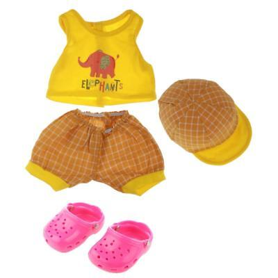Handmade Top Shorts Cap Sandals Shoes Summer Kit for 18'' American Girl Doll