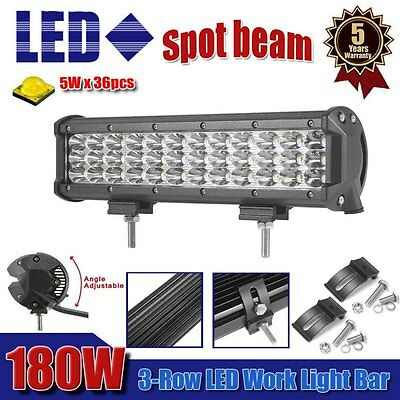 12inch 180w 18000LM CREE LED Work Light Bar Spot Offroad Driving SUV Jeep ATV