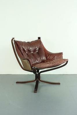 DANISH FALCON CHAIR SIGURD RESSELL RESELL 70s MIDCENTURY CHESTNUT BROWN #2086