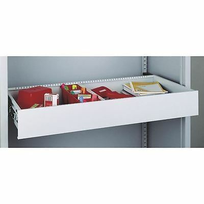 Bisley Rollout Drawer 4in Light Grey, Anti-tilt system [BY38928]