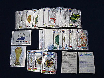 Panini WM WK WC 1998 WorldCup France 98, pick 1 badge sticker/1 Wappen auswählen