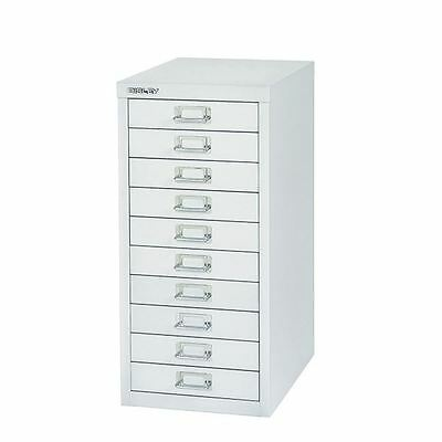 Bisley 10 Drawer Silver Non-Locking Multi-Drawer Cabinet BY40500 [BY40500]