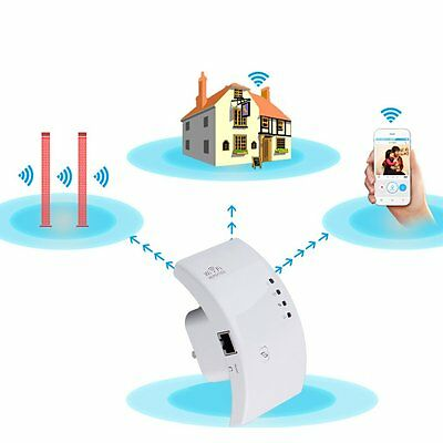 Durable 300Mbps Wireless N 802.11 AP Wifi Range Router Repeater Extender Booster