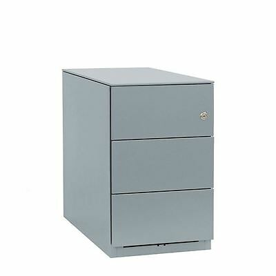 Bisley Note Pedestal Mobile 3 Stationery Drawers Goose Grey BY42027 [BY42027]