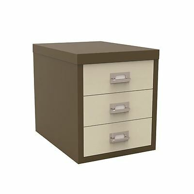 Bisley 3 Drawer Coffee Cream Non-Locking Multi-Drawer Cabinet BY47767 [BY47767]