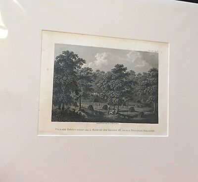 Antique West Australian Print View King George Sound Aboriginal Camp French Edtn