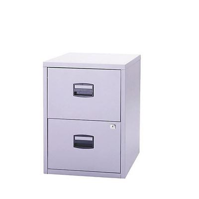 Bisley A4 Personal Filing 2 Drawer Lockable Grey BY57825 [BY57825]