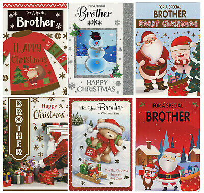 CUTE TO A SPECIAL BROTHER AND FIANCEE CHRISTMAS CARD 1STP/&P