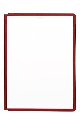 Durable 560603 SHERPA A4 Display Panel, Red - Pack of 10