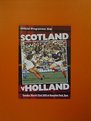 International Friendly - Scotland v Holland - 23rd March 1982