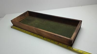 Antique Vintage Tray Drawer Wood Wooden Green Drawer Rule Unknown Unit